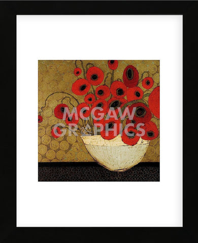Frida's Poppies (Framed) -  Karen Tusinski - McGaw Graphics