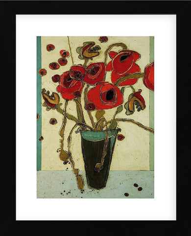 Poppies with Snap Pods (Framed) -  Karen Tusinski - McGaw Graphics