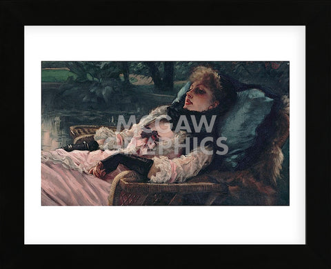 The Dreamer, of Summer Evening, ca. 1881 (Framed) -  Jacques-Joseph Tissot - McGaw Graphics
