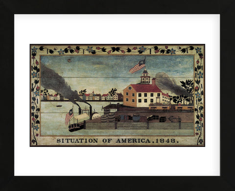 Unknown Artist - Situation of America, 1848