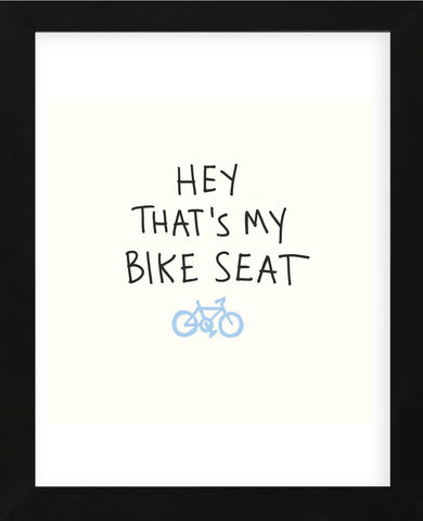 Bike Seat (Framed) -  Urban Cricket - McGaw Graphics