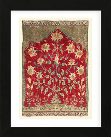 Fragment of a Saf Carpet, 1600-1650 (Framed) -  Unknown Artist - McGaw Graphics