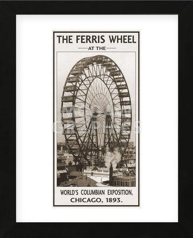 The Ferris Wheel, 1893 (Framed) -  Vintage Photography - McGaw Graphics