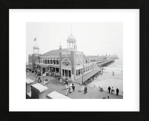 Atlantic City Steel Pier, 1910s (Framed) -  Vintage Photography - McGaw Graphics