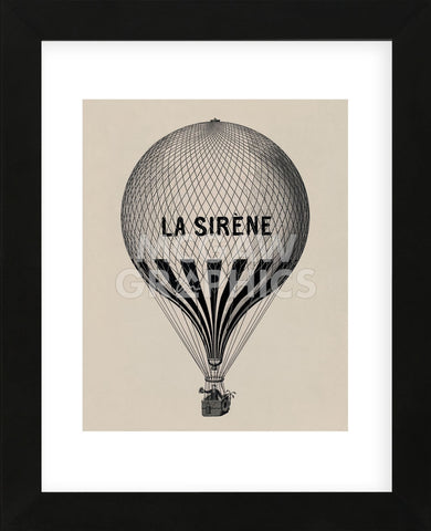 La Sirene (Framed) -  Vintage Reproduction - McGaw Graphics