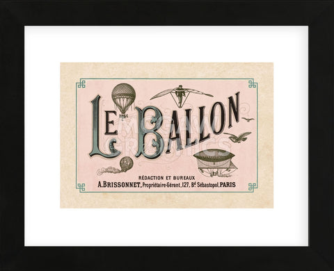 Le Ballon, ca. 1883 (Framed) -  Vintage Reproduction - McGaw Graphics