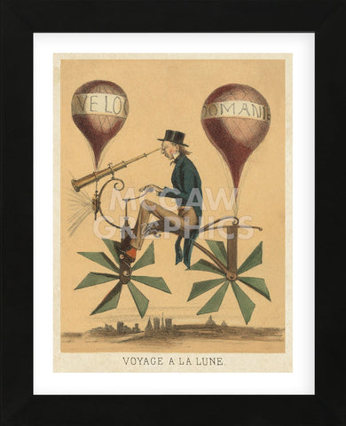 Voyage a la Lune (Framed) -  Vintage Reproduction - McGaw Graphics