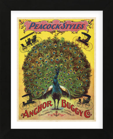Vintage Reproduction - Peacock Styles Anchor Buggy Co. ca. 1897