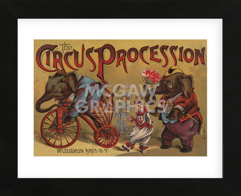 The Circus Procession, 1888 (Framed) -  Vintage Reproduction - McGaw Graphics