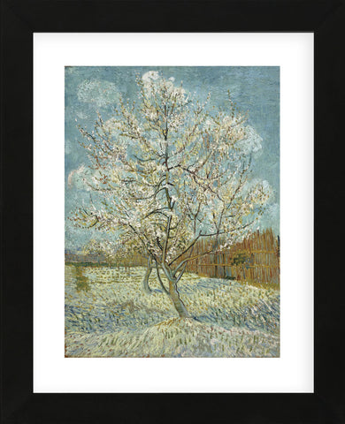 The Pink Peach Tree, 1888 (Framed) -  Vincent van Gogh - McGaw Graphics