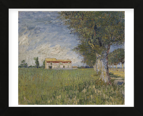 Farmhouse in a Wheat Field, 1888 (Framed) -  Vincent van Gogh - McGaw Graphics