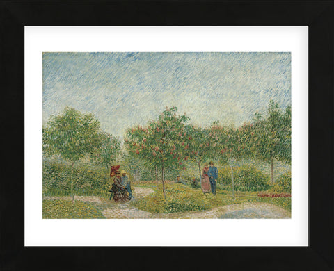 Garden with Courting Couples: Square Saint-Pierre, 1887 (Framed) -  Vincent van Gogh - McGaw Graphics