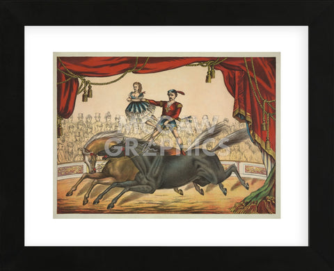 Vintage Reproduction - The Two Horse Act