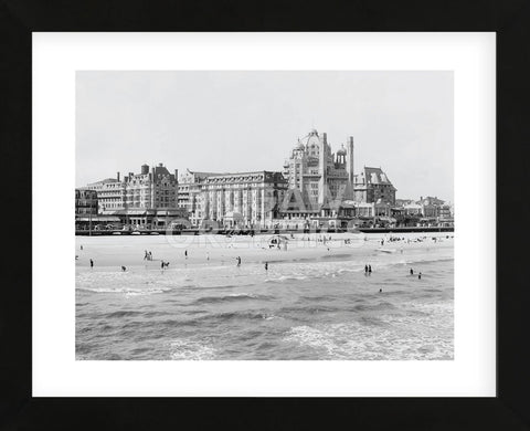 Hotels, Atlantic City, NJ (Framed) -  Vintage Photography - McGaw Graphics