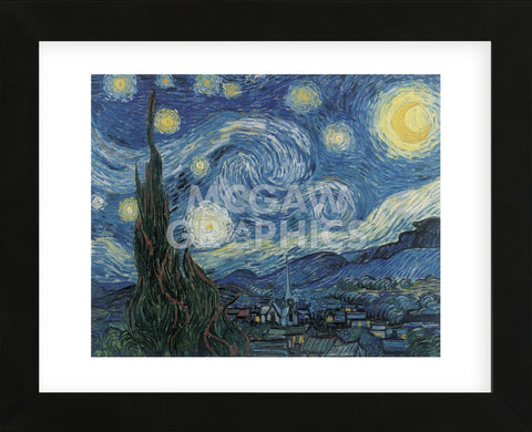 The Starry Night  (Framed) -  Vincent van Gogh - McGaw Graphics