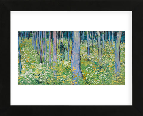 Undergrowth with Two Figures, 1890 (Framed) -  Vincent van Gogh - McGaw Graphics