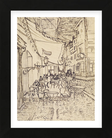 Cafe Terrace at Night, 1888 (Framed) -  Vincent van Gogh - McGaw Graphics