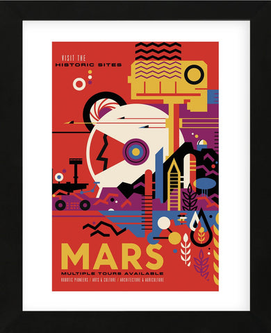 Mars (Framed) -  Vintage Reproduction - McGaw Graphics