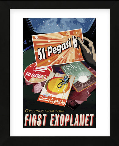 First Exoplanet (Framed) -  Vintage Reproduction - McGaw Graphics