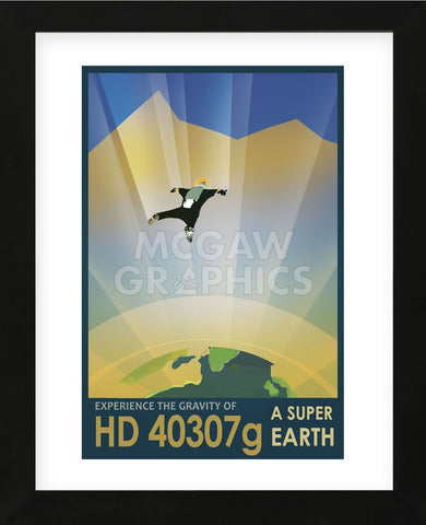 HD 40307g (Framed) -  Vintage Reproduction - McGaw Graphics