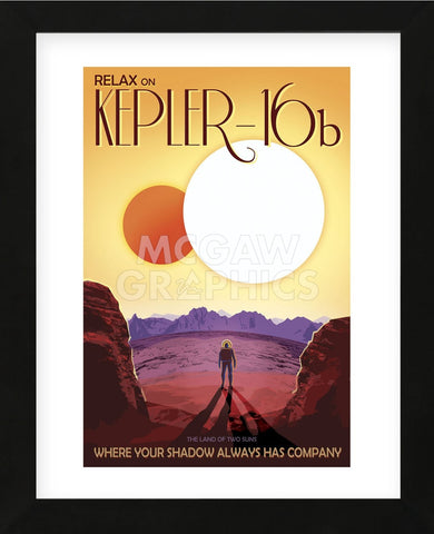 Kepler-16b (Framed) -  Vintage Reproduction - McGaw Graphics