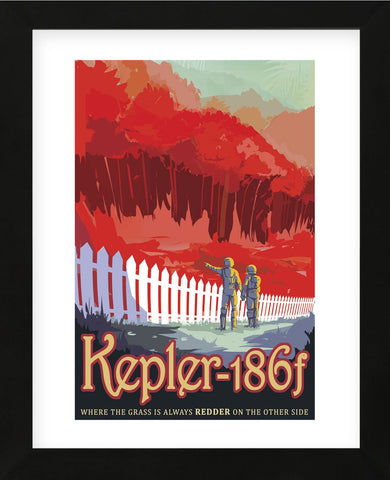 Kepler-186f (Framed) -  Vintage Reproduction - McGaw Graphics
