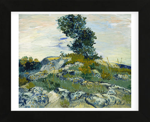The Rocks, 1888 (Framed) -  Vincent van Gogh - McGaw Graphics