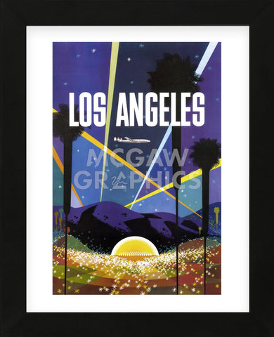 Los Angeles (Framed) -  Vintage Poster - McGaw Graphics
