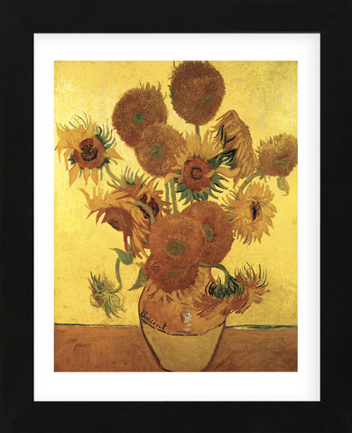 Sunflowers on Gold, 1888 (Framed) -  Vincent van Gogh - McGaw Graphics