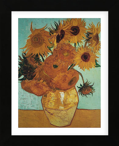 Sunflowers on Blue, 1888  (Framed) -  Vincent van Gogh - McGaw Graphics