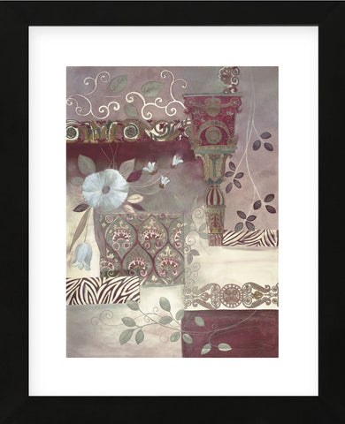 Plum Paisley (Framed) -  Muriel Verger - McGaw Graphics