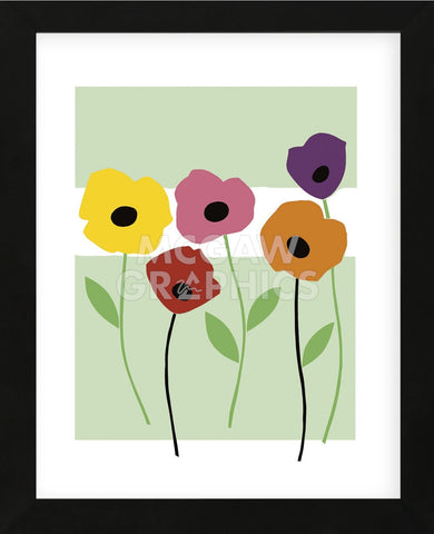Perky Poppies (Framed) -  Muriel Verger - McGaw Graphics