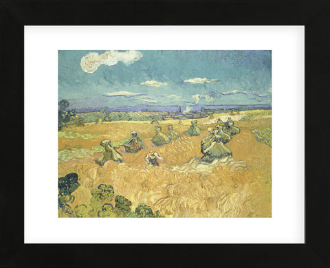 The Wheat Field, 1888  (Framed) -  Vincent van Gogh - McGaw Graphics