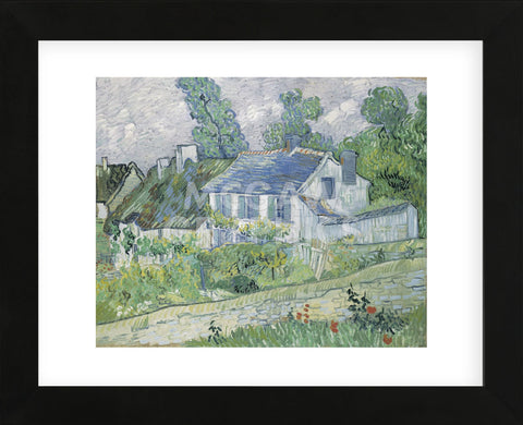 Houses at Auvers, 1890  (Framed) -  Vincent van Gogh - McGaw Graphics