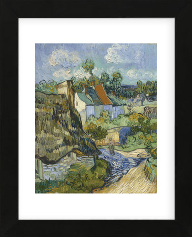 Houses at Auvers  (Framed) -  Vincent van Gogh - McGaw Graphics