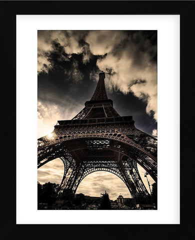The Eiffel Tower (vertical) (Framed) -  Mark Verlijsdonk - McGaw Graphics