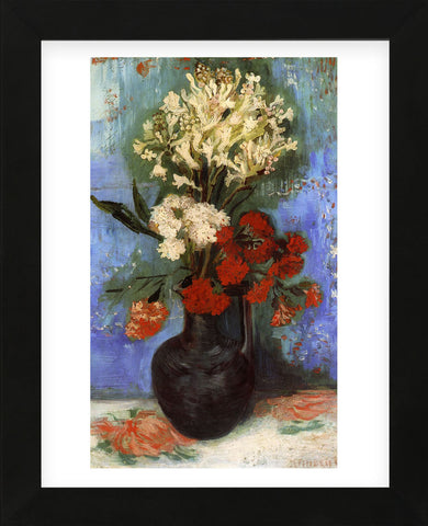Vase with Carnations and Other Flowers, 1886 (Framed) -  Vincent van Gogh - McGaw Graphics
