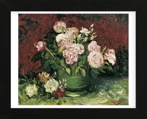 Roses and Peonies, 1886 (Framed) -  Vincent van Gogh - McGaw Graphics
