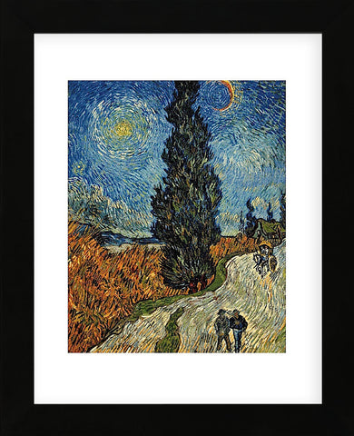 Country Road in Provence by Night, c. 1890 (Framed) -  Vincent van Gogh - McGaw Graphics