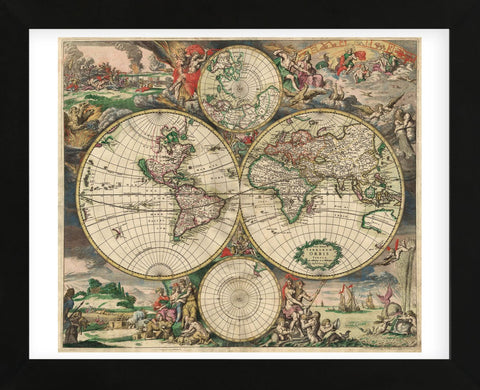 Vintage Reproduction - World Map 1689