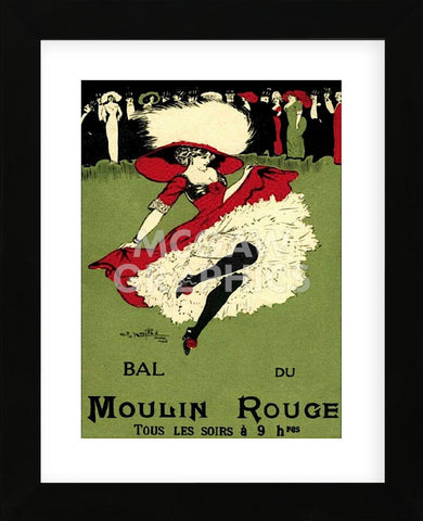 Bal du Moulin Rouge (Framed) -  Vintage Poster - McGaw Graphics