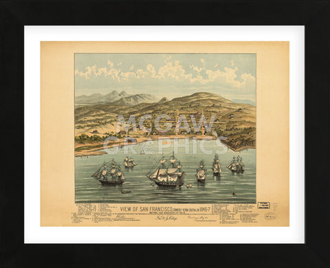 Vintage Reproduction - View of San Francisco 1846-7