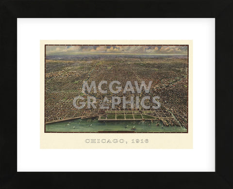 Chicago 1916 (Framed) -  Arno B. Reincke - McGaw Graphics