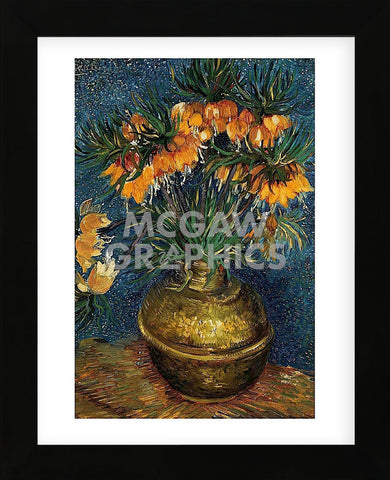Crown Imperial Fritillaries in a Copper Vase, 1886 (Framed) -  Vincent van Gogh - McGaw Graphics