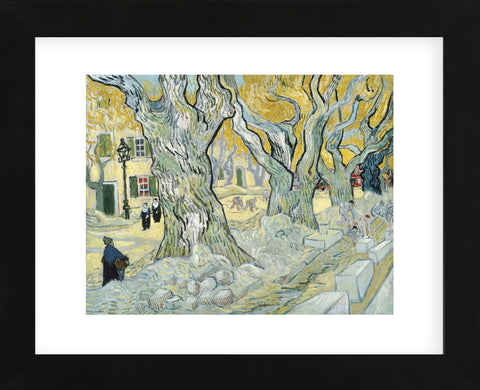 The Road Menders, 1889  (Framed) -  Vincent van Gogh - McGaw Graphics