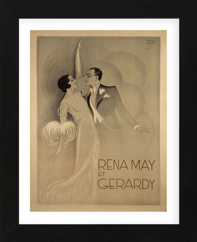 Rena May Et Gerardy (Framed) -  Vintage Posters - McGaw Graphics