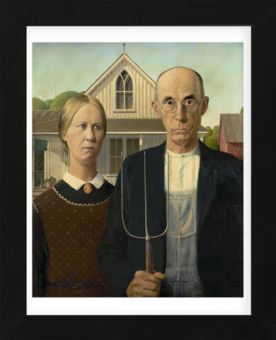 American Gothic, 1930 (Framed) -  Grant Wood - McGaw Graphics