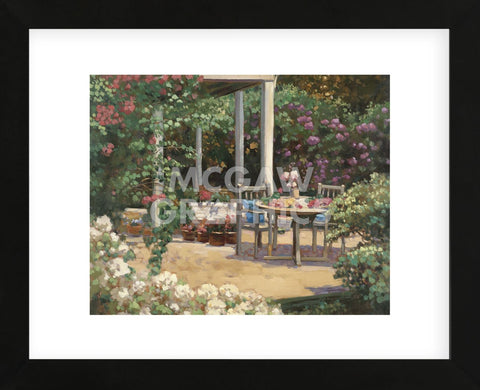 Posy Patio  (Framed) -  David Weiss - McGaw Graphics
