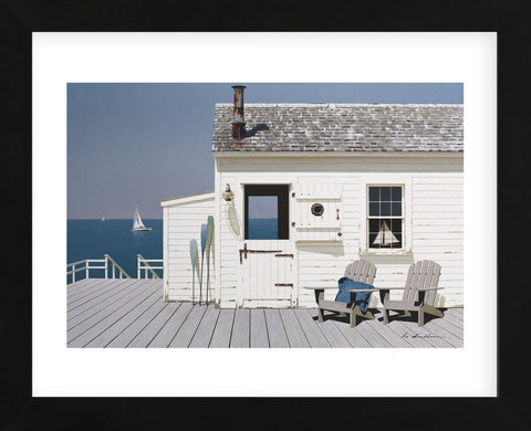 Dock House (Framed) -  Zhen-Huan Lu - McGaw Graphics