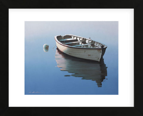 Lonely Boat (Framed) -  Zhen-Huan Lu - McGaw Graphics